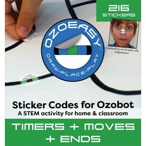 Ozoeasy Ozobot Sticker Codes (Timers + Moves + Ends Pack)