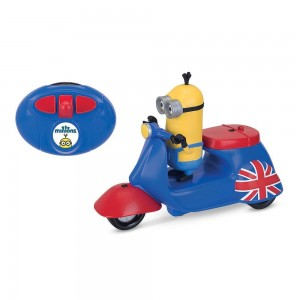 Thinkway Minions Movie Infrared Remote Control Scooter with Kevin Figure