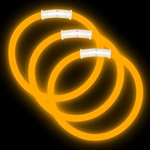 "Glowsource 8"" Glow Bracelets Premium: Orange (100-Pack)"