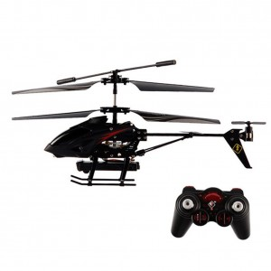 Emorefun Toys S977 3.5CH Camera Channel RC Metal Helicopter Gyro Radio Remote Control Black