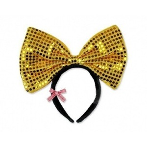 Light Up LED Flashing Sequin Headband Costume - Various Colors by Mammoth Sales