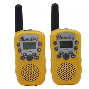 Blomiky T-388 22 FRS and GMRS UHF 2 Way Radio Flashlight Kids Friendly Child Walkie-Talkie RT-388 Yellow