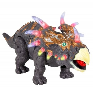 Walking Dinosaur Toy TG636 – Triceratops Toy For Boys And Girls Over 3 Years Old - Dinosaur With Awesome Roar Sounds, Lights and Movement - By ThinkGizmos (Trademark Protected)