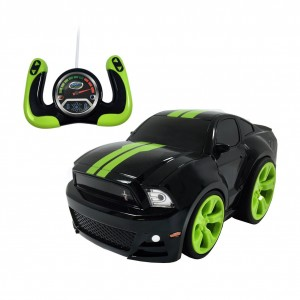 Gear'd Up Remote Control Ford Mustang - Bandit Black With Green Stripes