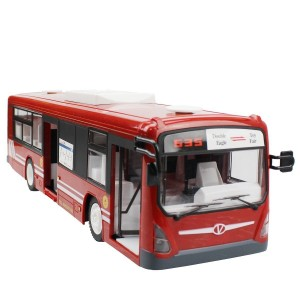 Fisca 6 Channel 2.4G Remote Control Bus Opening Doors and Acceleration Funcation Simulation Sound and Flashing Light Truck Model