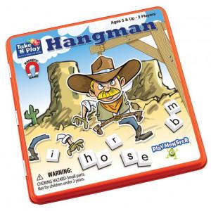 PlayMonster Take 'N' Play Anywhere Hangman Magnetic Word Game