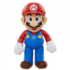 World of Nintendo Super Mario 4 inch Action Figure - Mario