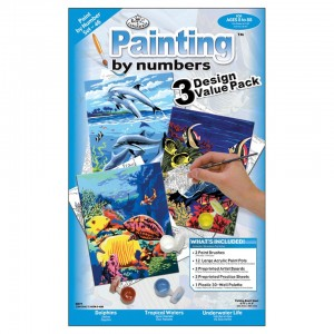 Junior Paint By Number Kit - Sea Life