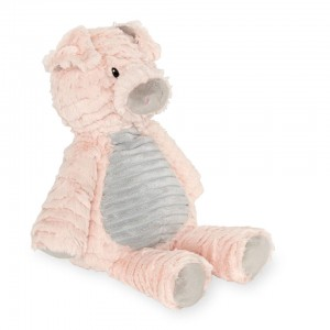 Animal Alley 10 inch Terry Belly Stuffed Pig - Pink