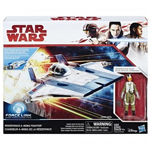 Star Wars Force 3.75 inch Action Figure - Resistance A-Wing Fighter and Pilot Tallie