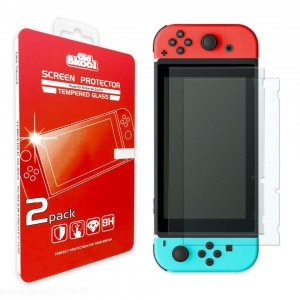 Old Skool Tempered Glass Screen Protector for Nintendo Switch - 2 Pack