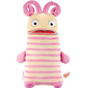 Worry Eaters Large Stuffed Polli - Pink/Tan