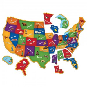 Learning Resources Magnetic U.S. Map Puzzle - 45-Piece