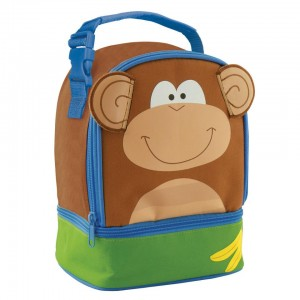 Stephen Joseph Monkey Lunch Pals Insulated Lunch Box with Bottom Compartment