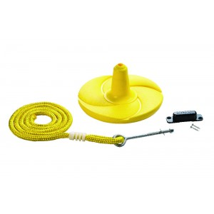 Disk Swing with Rope - Yellow