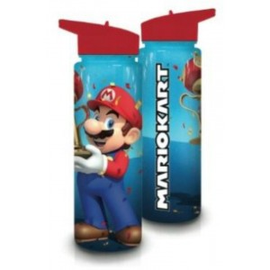 Nintendo Super Mario Kart Water Bottle with Lid and Straw