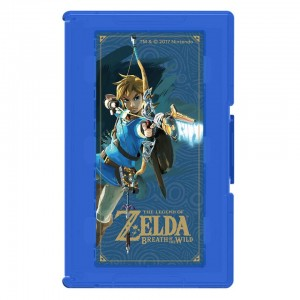 Nintendo Switch Zelda Breath of the Wild Game Card Case 24 - Blue