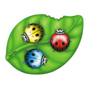 Ladybirds On A Leaf Shaped 3D Puzzle - 9-piece