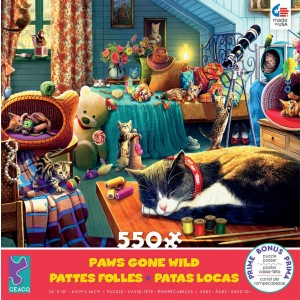 Ceaco Paws Gone Wild Kitten Play Puzzle - 550-piece