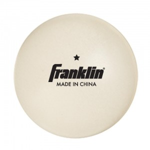 Franklin Sports Star Table Tennis Balls - White
