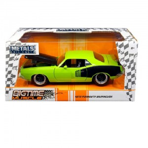 1:24 Scale Big Time Muscle Diecast - 1973 Plymouth Barracuda