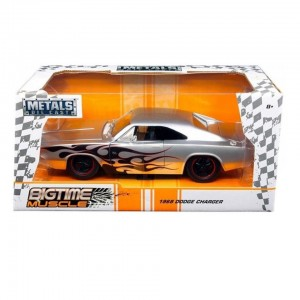 1:24 Scale Big Time Muscle Diecast - 1968 Dodge Charger