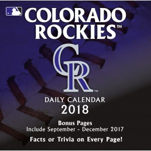 Turner 2018 MLB Colorado Rockies Box Calendar