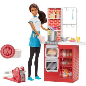 Barbie Spaghetti Chef Doll and Playset - Brown Hair