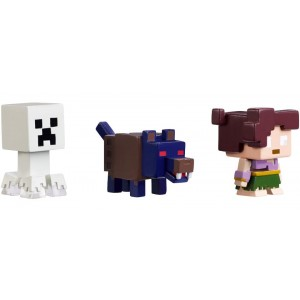 Minecraft Halloween Series Mini Action Figures - Ghost Creeper, Wolfman and Farlander