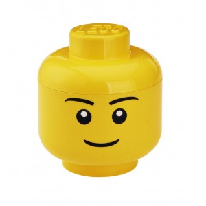 LEGO Large Storage Head - Yellow