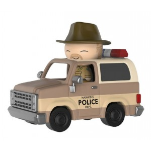 Funko Dorbz Ride: Stranger Things 3.75 inch Vinyl Figure - Hopper and Sheriff Deputy Truck