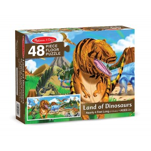 Melissa and Doug Land of Dinosaurs Floor Puzzle (48 pcs, 4 feet long)