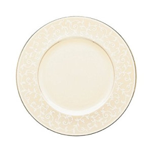 Lenox Pearl Innocence Platinum Banded Ivory China 9-Inch Accent Plate