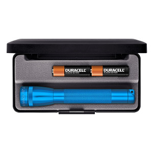 Maglite Mini Incandescent 2-Cell AA Flashlight in Presentation Box, Blue