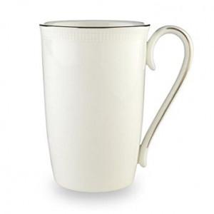 Lenox Tribeca Platinum Banded Bone China Accent Mug
