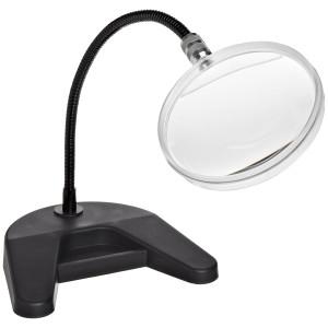"Donegan 204-D Flex-A-Mag, 2X Magnification, 4""  Round Lens, 12""  Flexible Arm with Desk Base"