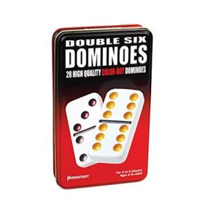 Pressman Double 6 Colored Dominoes