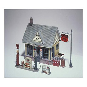 Woodland Scenics HO Scale Scenic Details Gas Station