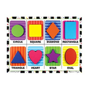 Melissa and Doug Shapes Wooden Chunky Puzzle (8 pcs)
