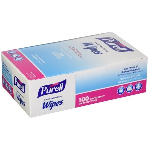 Purell 9022-10 Sanitizing Hand Wipes, Individually Wrapped (Pack of 100)