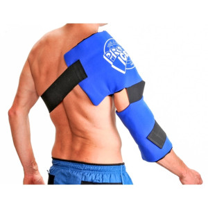 Adult Shoulder/Elbow Cold Therapy Ice Wrap - Long Lasting Pain Relief from Spasms and Swelling. Maintains Consistent Temperature. Built to Give Comfortable Fit
