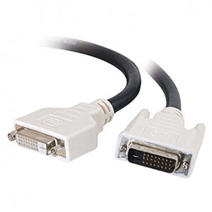 C2G/Cables to Go 26913 DVI-D M/F Dual Link Digital Video Extension Cable (1 Meter, Black)