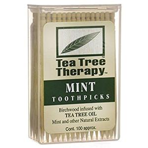 Tea Tree Therapy Toothpicks - Tea Tree And Mint - 100 Count