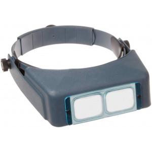 "Donegan DA-4 OptiVISOR Headband Magnifier, 2X Magnification Glass Lens Plate, 10""  Focal Length"
