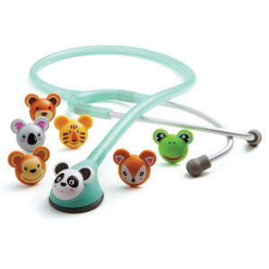 "ADC Adscope Adimals 618 Pediatric Stethoscope with Tunable AFD Technology, 30""  Length, Seafoam"