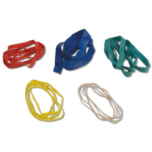 CanDo 10-1855 Hand Exerciser, Additional Latex Free Bands, 5 Pack Set