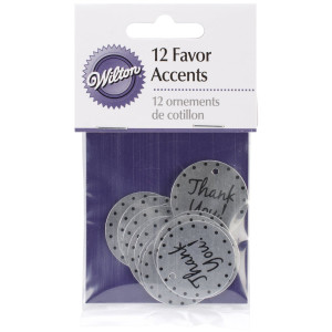 Wilton Thank You Favor Accents,12/pack