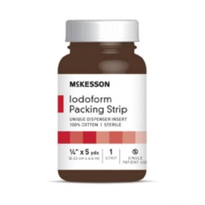 "McKesson Performance Plus Iodoform 5% Packing Strip 1/4"" X5Yard Sterile Latex Free - Model 61-59145"