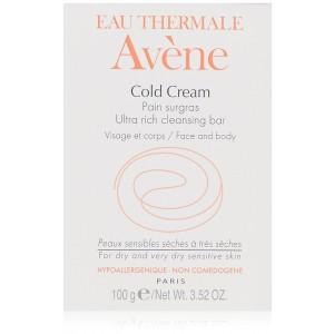 Eau Thermale Avène Cold Cream Ultra-Rich Cleansing Bar, 3.52 oz.