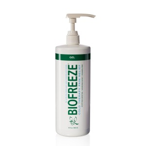 Biofreeze Pain Relief Gel for Arthritis, 32 oz. Bottle With Pump, Fast Acting and Long Lasting Cooling Pain Reliever for Muscle, Joint, and Back Pain, Cold Topical Analgesic with Original Green Formula